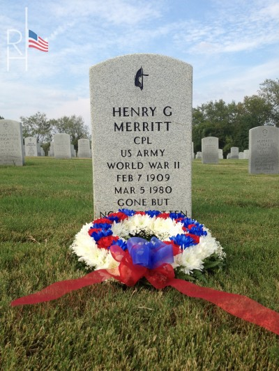 Picture of a Commitment Wreath honoring a veteran