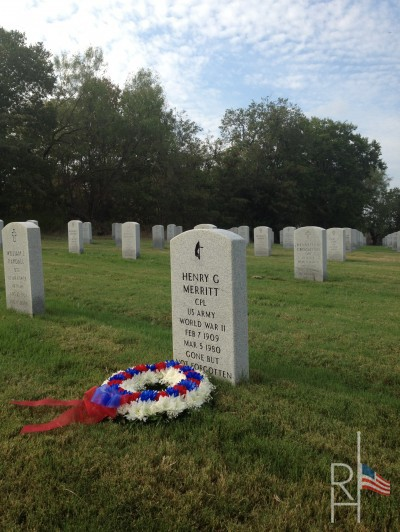 Picture of a Commitment Wreath at a National Cemetery